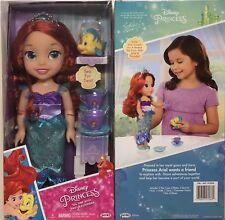 Disney Princess Tea Time with Ariel & Flounder Doll +Tea Cup Set GENUINE - NEW!