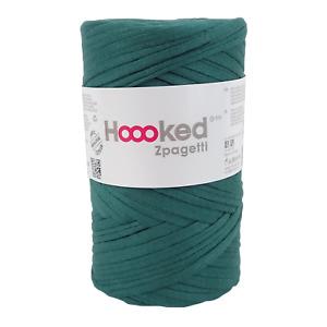 Hoooked Zpagetti Dark Green Shades Cotton T-Shirt Yarn - 60m, 350g