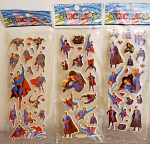 Superman Stickers for Loot Bag Birthday Party sticker 10 sheets