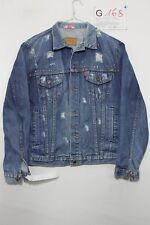 Giacca Levis Personalizzato Rotture (Cod. G168) Tg.42 jeans USATO Uomo Borchie
