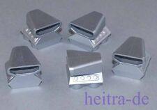 LEGO - 5 x Motorblock / Lufteinlass / Booster, metallic - silber / 50943 NEUWARE