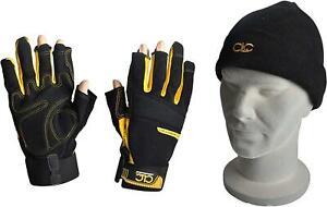 CLC Kunys Framer Carpenters 3 Cut Fingerless Finger Tip Free Work Gloves Large L