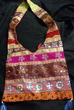 "Indian jhola bag purse handbag embroidered bohemian boho Shoulder 11 X 14"""