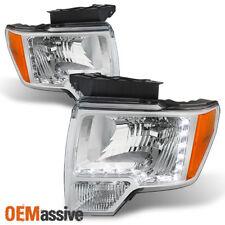 Fits 09-14 Ford F-150 F150 Pickup Truck DRL LED Strip Headlights Pair Left+Right
