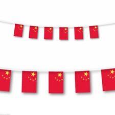 China Plástico Banderín Rojo y amarillo 7m Largo by 30cm