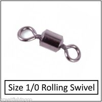 50 rolling swivels size 1/0 good for all sea rigs  rigs boat rigs fishing swivel