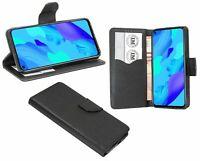 Huawei Nova 5T // Klapp Tasche Hülle Buchtasche Zubehör Bumper Case Schwarz
