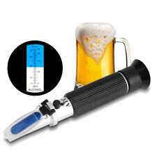 Alcohol 0-80% Test Refractometer Wine Beer Beverage Meter Measure Instrument LJ