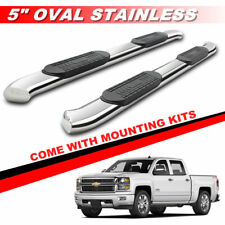"""5"""" S/S Curved Side Steps For 2007-2017 Chevy Silverado Crew Cab Running Boards"""