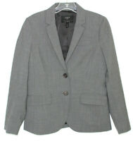J. Crew Women's Gray Two Button 1035 Bi Stretch Wool Suit Jacket/Blazer Size 4P