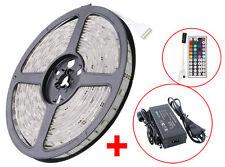 5m-25m LED Strip Stripe Streifen 5050 RGB mehrfabrig Lichtleiste Band IR Trafo