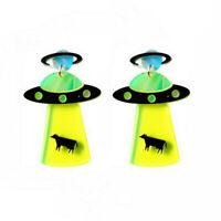 Women Boho Dangle Drop Stud Earring Acrylic Resin Ear UFO Earrings Jewelry Gifts
