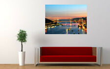 "HONG KONG CITY NIGHT NEW GIANT LARGE ART PRINT POSTER PICTURE WALL 33.1""x23.4"""