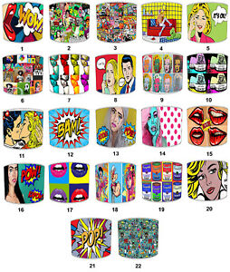 Pop Art Lampshades Ideal To Match Pop Art Wall Decals Stickers & Posters