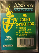 Ultra Pro 2-Piece Plastic Box 2-pack,25-Count Total of 50 card storage!!!