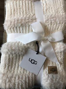 UGG Wool Throw blanket TOPANGA in Natural 50 x 70 New w/ tags Soft Gift Fur