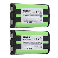 2-Pack HQRP Phone Battery for Panasonic KX-TG5651, KX-TG5652, KX-TG5653