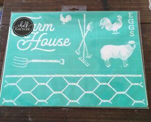 RETIRE Chalk Couture FARMHOUSE Transfer NEW Farm House Cow Windmill pig chicken
