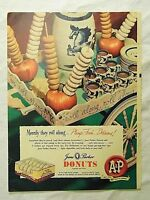 1949 Magazine Advertisement Page A&P Jane Parker Donuts Dash Armour Dog Food Ad