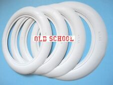 Firestone tyre style 14''x3'' White Wall Tyre insert Trim Port-a-wall Topper 4pc