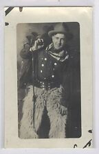 Studio Cowboy posed photo  RPPC #14