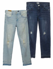 Denim Regular Size Distressed Jeans for Women