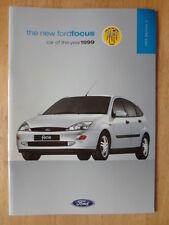 FORD FOCUS RANGE 1999 UK Mkt prestige sales brochure - CL Zetec LX Ghia 2.0i