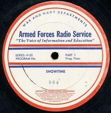 """3 Discs Showtime 16"""" AFRS Radio Transcription - Academy Award Theater Snow White"""
