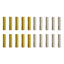 10 Silver/Gold Bayonet Clasps For 3mm Leather Cord  Buckle Mating Connectors