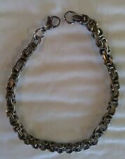 """Men's or Women's Stainless Steel Polished Silver Link Chain Bracelet New 8.5"""""""