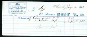 """STEAMBOAT FREIGHT BILL """"Mary T"""""""