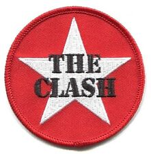 THE CLASH white star on red EMBROIDERED IRON-ON PATCH **FREE SHIP london calling
