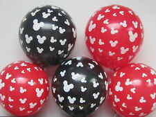 6x Red Black Mickey minnie head Latex Balloons Birthday Wedding Party Decoration