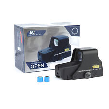 Scope Tactical Mini Holographic Reflex Sight Red Green Dot Light Adjustable