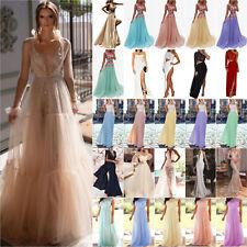 Damen Kleider Ballkleid Abendkleid Maxikleid Party Brautjungfer Hochzeit Kleid