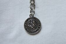 Saint St Christopher Keychain Silver Key Ring Chain Charm