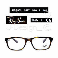 02d4facafc49 Ray Ban RB 7063 5577 Brown Transparent 54-18-145 Eyeglasses Rx (Display