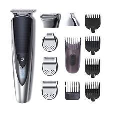 Tondeuse Homme Waterproof Barbe Cheveux Nez-Oreilles Electrique 5 en 1 Rasoir