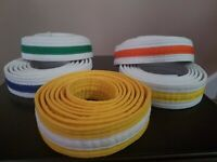 Youth Karate Belts-Isshinryu Belts -sold individually - five different ones