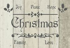 Stencil Shabby Chic Vintage CHRISTMAS French Furniture Fabric Art Mylar