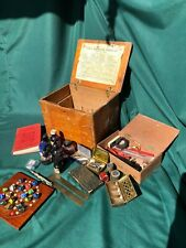 Vintage medical box with job lot vintage items