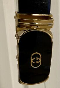 Gucci black leather GG belt Sz 115/46