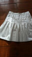 Subtle sparkle party cream silver skirt Italian designer Krizia Poi sz 10