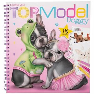 Create your TOPModel Doggy Colouring Book by Depesche