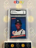 1986 Donruss Rickey Henderson #51 - 9 MINT GMA Graded Baseball Card