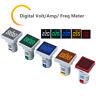 AC 20-500V Digital LED Voltmeter 22mm Voltage Current Amp Frequency Panel Meter