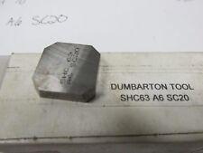 Dumbarton Tool SHC63 A6 SC20 Carbite Insert Lot of 10 19982 ISU