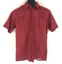 Patagonia Mens Back Step Shirt Micro Medusa Red Organic Hemp Cotton Size XS NWT