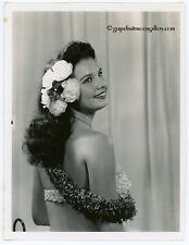 1958 Bunny Yeager Original Pin Up Photograph Hula Girl Nani Maka Hand Signed