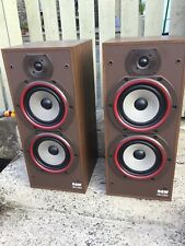 Vintage B&W Bowers And Wilkins DM220  Speakers In American Walnut Cabinets